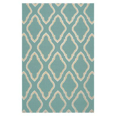 Fallon Dark Robins Egg Teal Area Rug Rug Size: 36 x 56