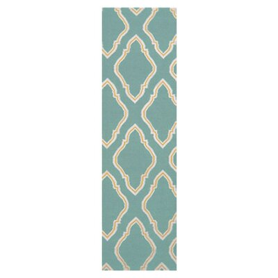 Fallon Dark Robins Egg Teal Area Rug Rug Size: Runner 26 x 8