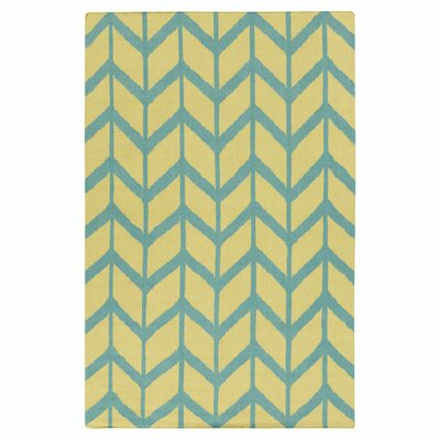 Fallon Hand-Woven Teal Blue Area Rug Rug Size: Rectangle 5 x 8