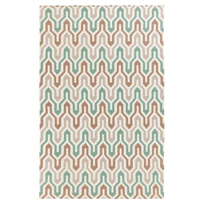 Fallon Hand-Woven Slate Green Area Rug Rug Size: Rectangle 36 x 56