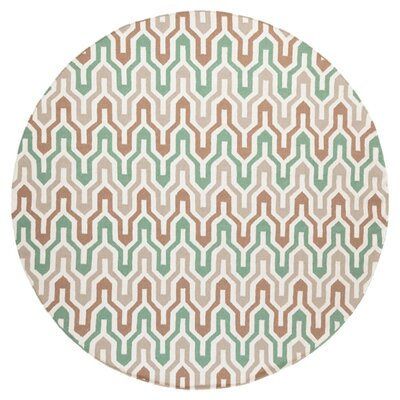 Fallon Hand-Woven Slate Green Area Rug Rug Size: Round 8