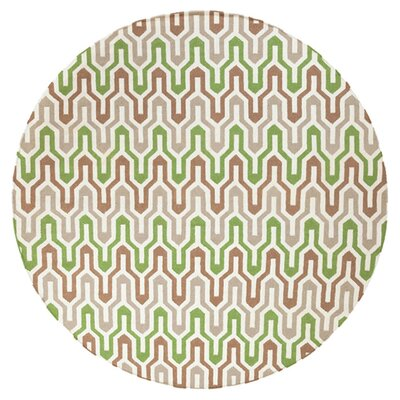 Fallon Spruce Hand-Woven Green Area Rug Rug Size: Round 8