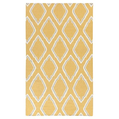 Fallon Dove Orange Area Rug Rug Size: 2 x 3