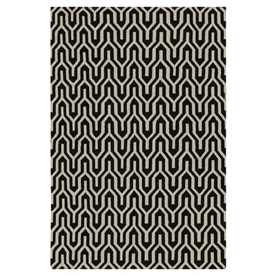 Fallon Caviar Hand-Woven Black Area Rug Rug Size: Rectangle 36 x 56