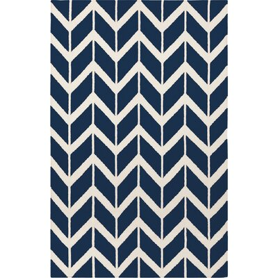 Fallon Sapphire Hand-Woven Blue Area Rug Rug Size: 8 x 11