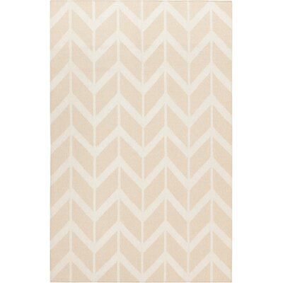 Fallon Hand-Woven Sand Area Rug Rug Size: Rectangle 36 x 56