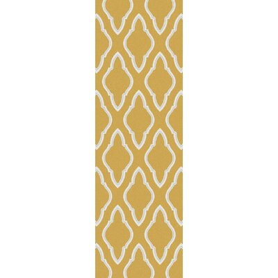 Fallon Dove Orange Area Rug Rug Size: Runner 26 x 8