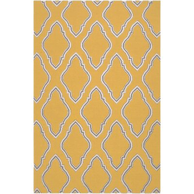 Fallon Dove Orange Area Rug Rug Size: 5 x 8