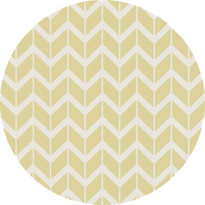 Fallon Hand-Woven Pear Area Rug Rug Size: Round 8