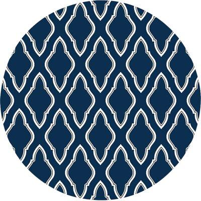 Fallon Blue/Ivory Area Rug Rug Size: Round 8