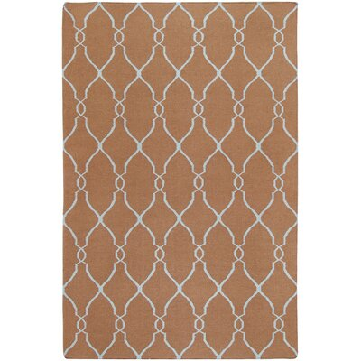 Fallon Chocolate/Pale Beige Area Rug Rug Size: 36 x 56