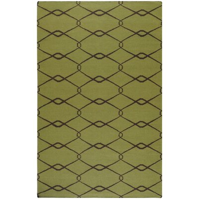 Fallon Lime Green/Chocolate Area Rug Rug Size: 5 x 8