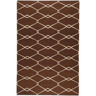 Fallon Chocolate/Ivory Area Rug Rug Size: Rectangle 8 x 11
