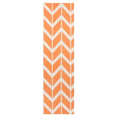 Fallon Papaya Area Rug Rug Size: Runner 26 x 8