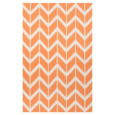 Fallon Papaya Area Rug Rug Size: 36 x 56