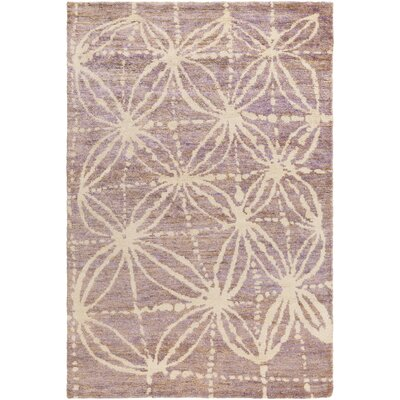 Orinocco Hand-Woven Purple/Beige Area Rug Rug Size: Rectangle 5 x 76
