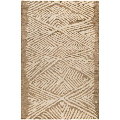 Orinocco Hand-Woven Brown/Beige Area Rug Rug Size: Rectangle 5 x 76