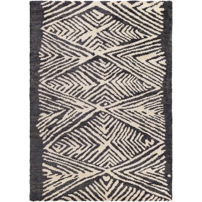 Orinocco Hand-Woven Black/Beige Area Rug Rug Size: Rectangle 8 x 10