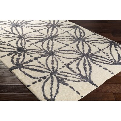 Orinocco Hand-Woven Black/Beige Area Rug Rug Size: Rectangle 5 x 76