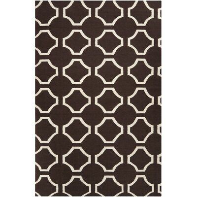 Fallon Chocolate Area Rug Rug Size: Rectangle 36 x 56