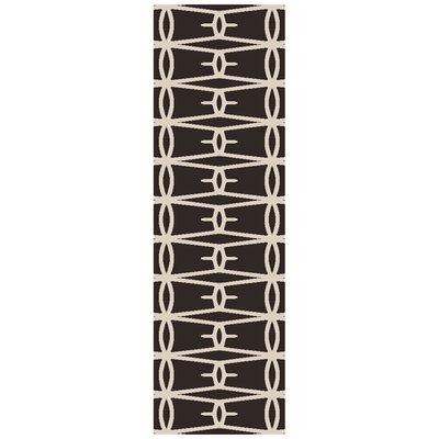 Fallon Black Area Rug Rug Size: Runner 26 x 8