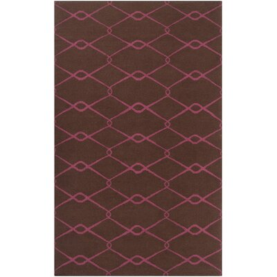 Fallon Hand-Woven Dark Chocolate Area Rug Rug Size: Rectangle 36 x 56