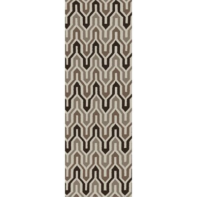 Fallon Coffee Bean Hand-Woven Chocolate Area Rug Rug Size: Runner 26 x 8