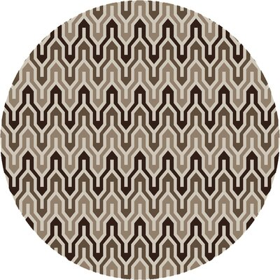 Fallon Coffee Bean Hand-Woven Chocolate Area Rug Rug Size: Rectangle 36 x 56