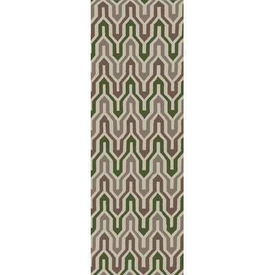 Fallon Spruce Hand-Woven Green Area Rug Rug Size: Rectangle 8 x 11
