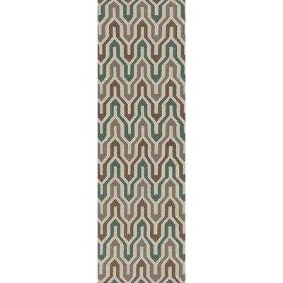 Fallon Hand-Woven Slate Green Area Rug Rug Size: Runner 26 x 8