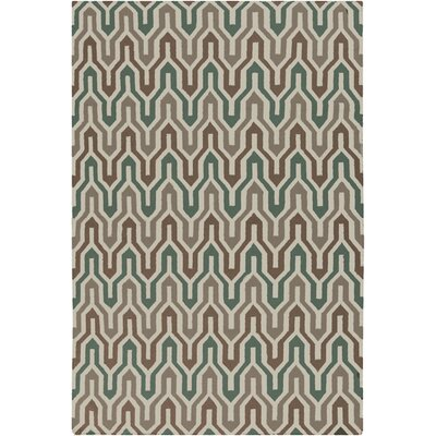 Fallon Hand-Woven Slate Green Area Rug Rug Size: Rectangle 5 x 8