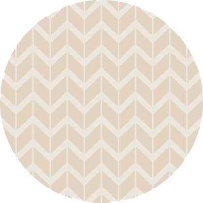 Fallon Hand-Woven Sand Area Rug Rug Size: Round 8