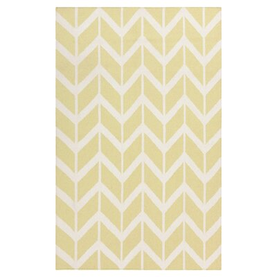 Fallon Hand-Woven Pear Area Rug Rug Size: Rectangle 36 x 56