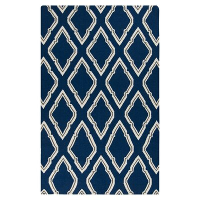 Fallon Blue/Ivory Area Rug Rug Size: Rectangle 36 x 56