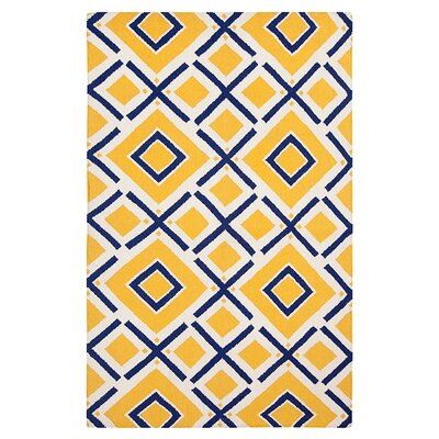 Klein Hand-Woven Sunshine Yellow Area Rug Rug Size: Rectangle 36 x 56