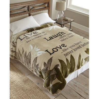 Shavel Live Laugh Love Polyester Throw Blanket at Sears.com