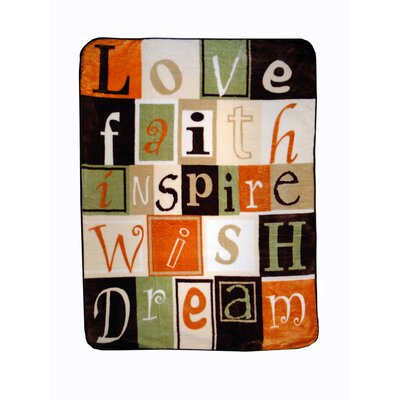 Love Faith Inspire Throw Blanket