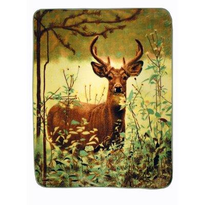 Deer Standing Throw Blanket