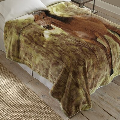 Horse in the Meadow Throw Blanket