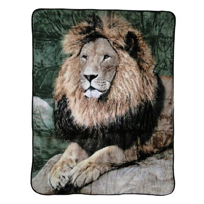 Mighty Lion Throw Blanket