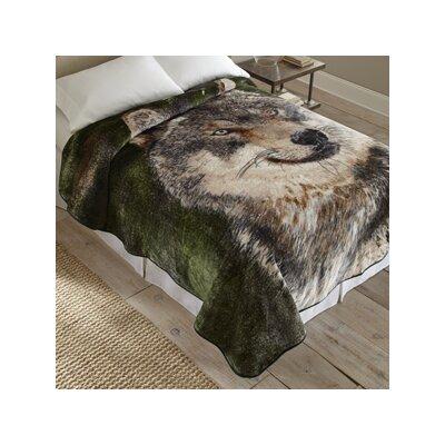 Wolf Portrait Throw Blanket
