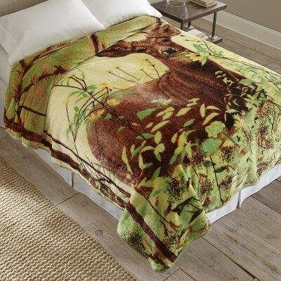 Standing Deer Throw Blanket