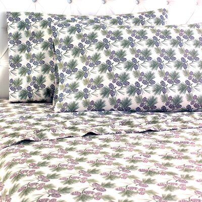 Micro Flannel� Pinecone Sheet Set Size: Full