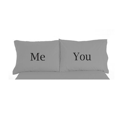 Micro Flannel� Me and  You Inspirational Novelty Print Pillowcase Pair