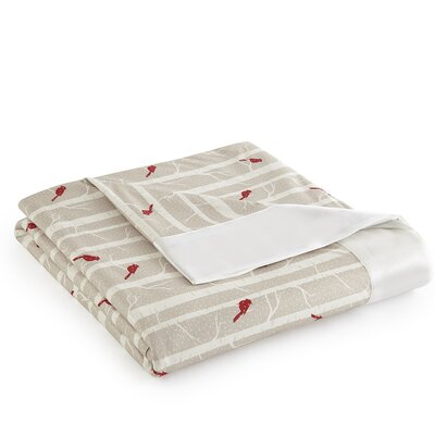 Micro Flannel� Cardinals Sheet Blanket Size: King