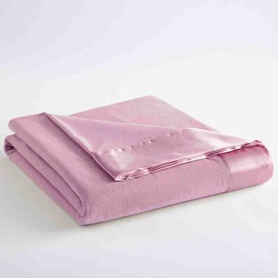 Micro Flannel Sheet Blanket Size: Full / Queen, Color: Frosted Rose