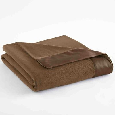 Micro Flannel� Sheet Blanket Size: Full / Queen, Color: Chestnut