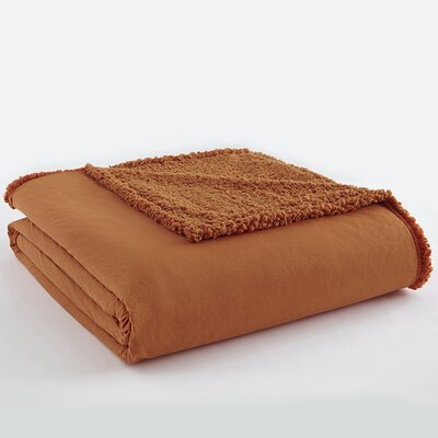 Micro Flannel Sherpa Blanket Color: Spice, Size: King