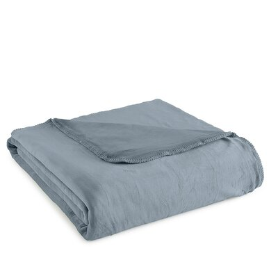 Ultra Velvet Ultra Soft Blanket Color: Steel Blue, Size: Full/Queen