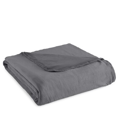 Ultra Velvet� Ultra Soft Blanket Size: Twin, Color: Gunmetal